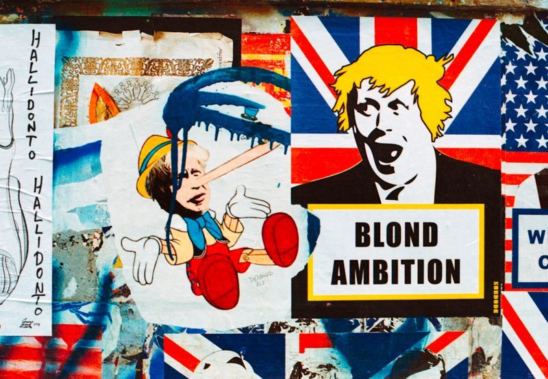 Blond Ambition. Boris Johnson street art.London Street art Shoreditch.Shot on film, Kodak Portra 800, Nikon FM2n